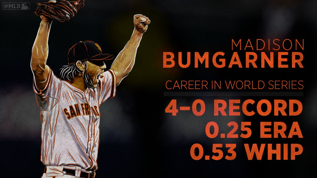 Did it get any better than Madison Bumgarner?  The 3-time #WorldSeries winner turns 29 today.