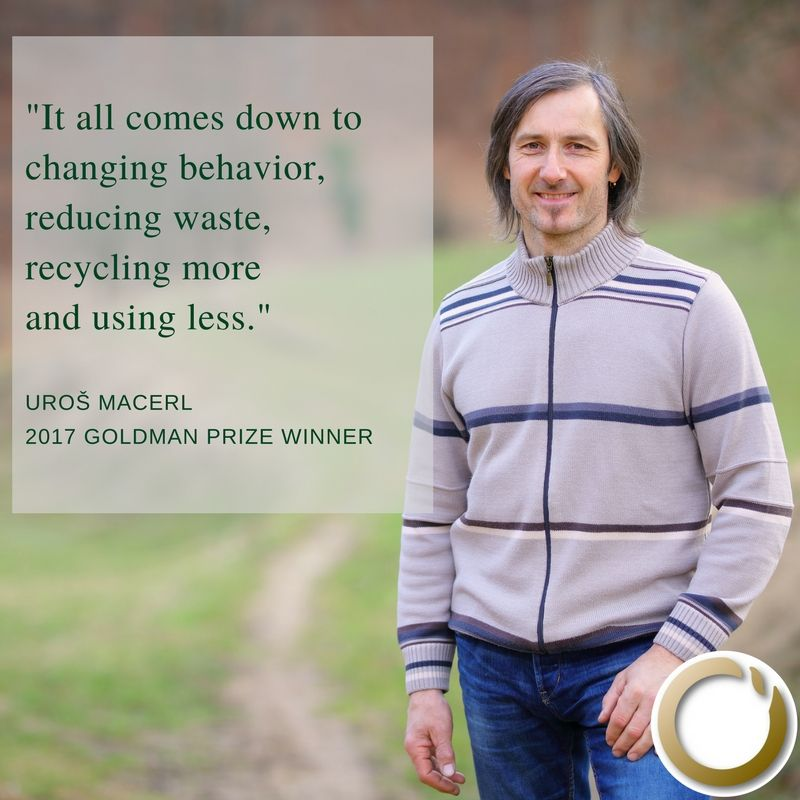 #WednesdayWisdom from 2017 #GoldmanPrize winner Uroš Macerl @ekokrog