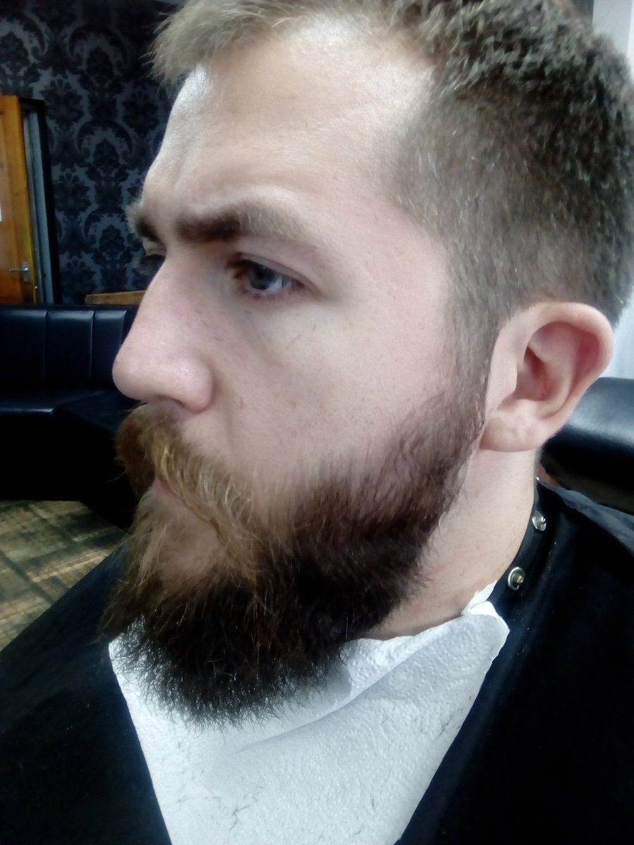 Nick Fagan On Twitter Finally Busted Out The Wolverines 12 Clipper Guards For A Beard Trim And Shape Up On Jamie S Mane Barberuk Barbershop Barber Barbering Barberlife Beardo Beard Beards Beardtrim Bearded