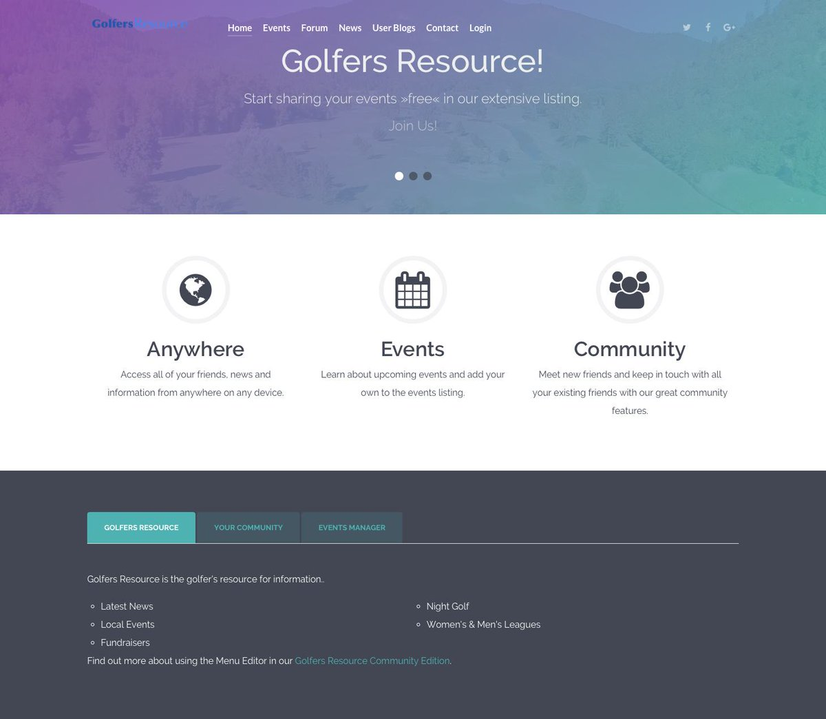 Golfers Resource relaunched with lots of new features.  Sick of Facebook and all the noise and want a more golfing focused group?  This is the place.  Check it out:  https://t.co/hejWXDtPmT