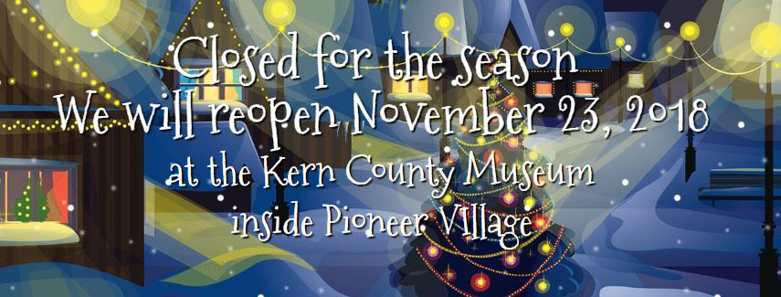 NEW: Bakersfield Christmas Town now has a new home! It will reopen in November at the Kern County Museum's Pioneer Village! The same activities will be ...