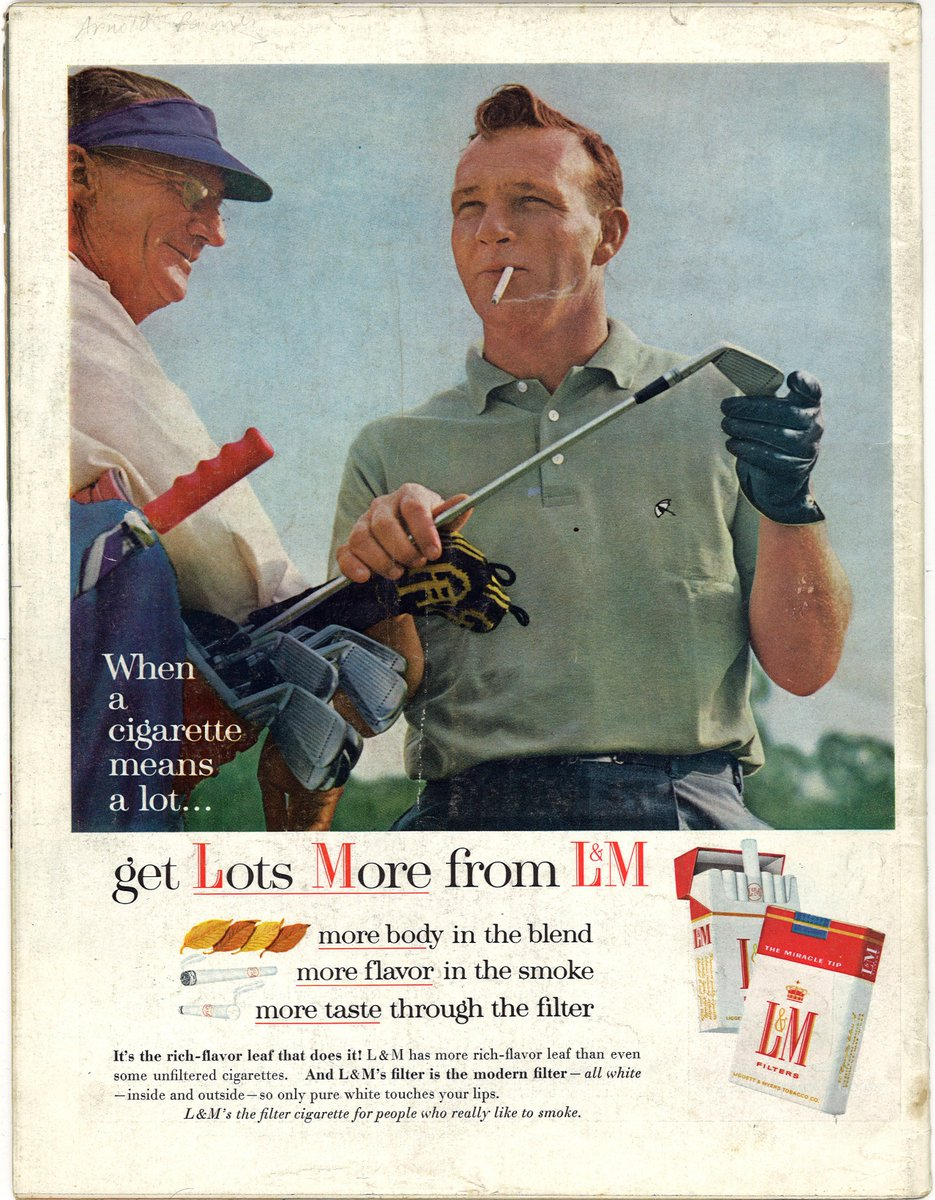 "The Center for the Study of Tobacco and Society on Twitter: ""August is  #NationalGolfMonth! From the 1910s to the 2010s, many cigarette ads  appealed to golf lovers, such as these promotions for"