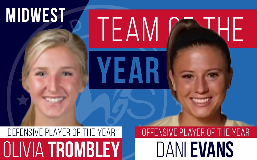 DETROIT SUN FC UWS MIDWEST CONFERENCE EVANS NAMED PLAYER OF YEAR TEAMMATES DELUCA, SINGSTOCK, SCHUPBACH AND LYNN RECOGNIZED