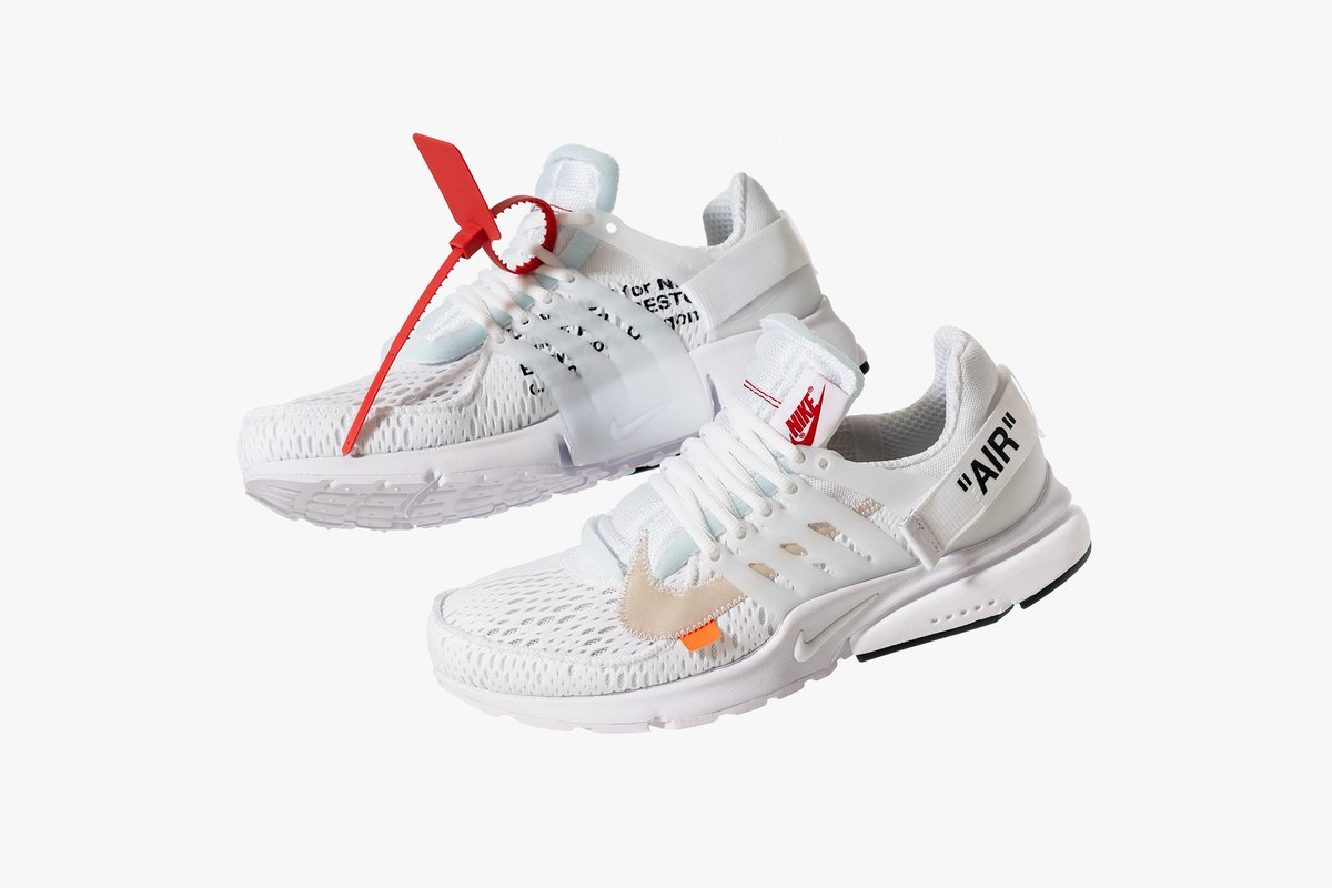 """6a85f8018e Nike x Off White """"The Ten"""" Air Presto White 