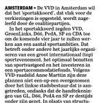 Image for the Tweet beginning: De VVD wil dat het