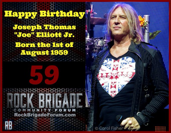 Happy Birthday to Joe Elliott and thx for 4 decades of great music.