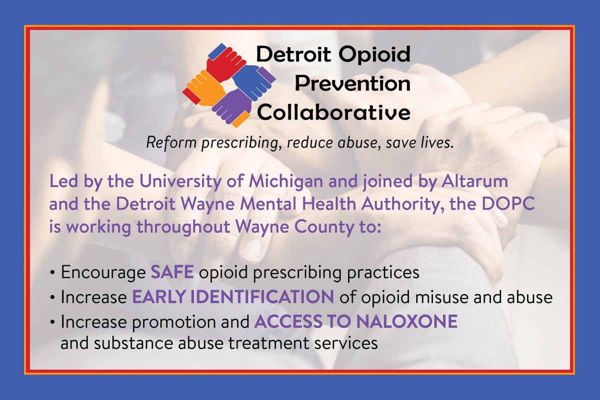 Detroit Opioid Prevention Collaborative On Twitter What Is Dopc