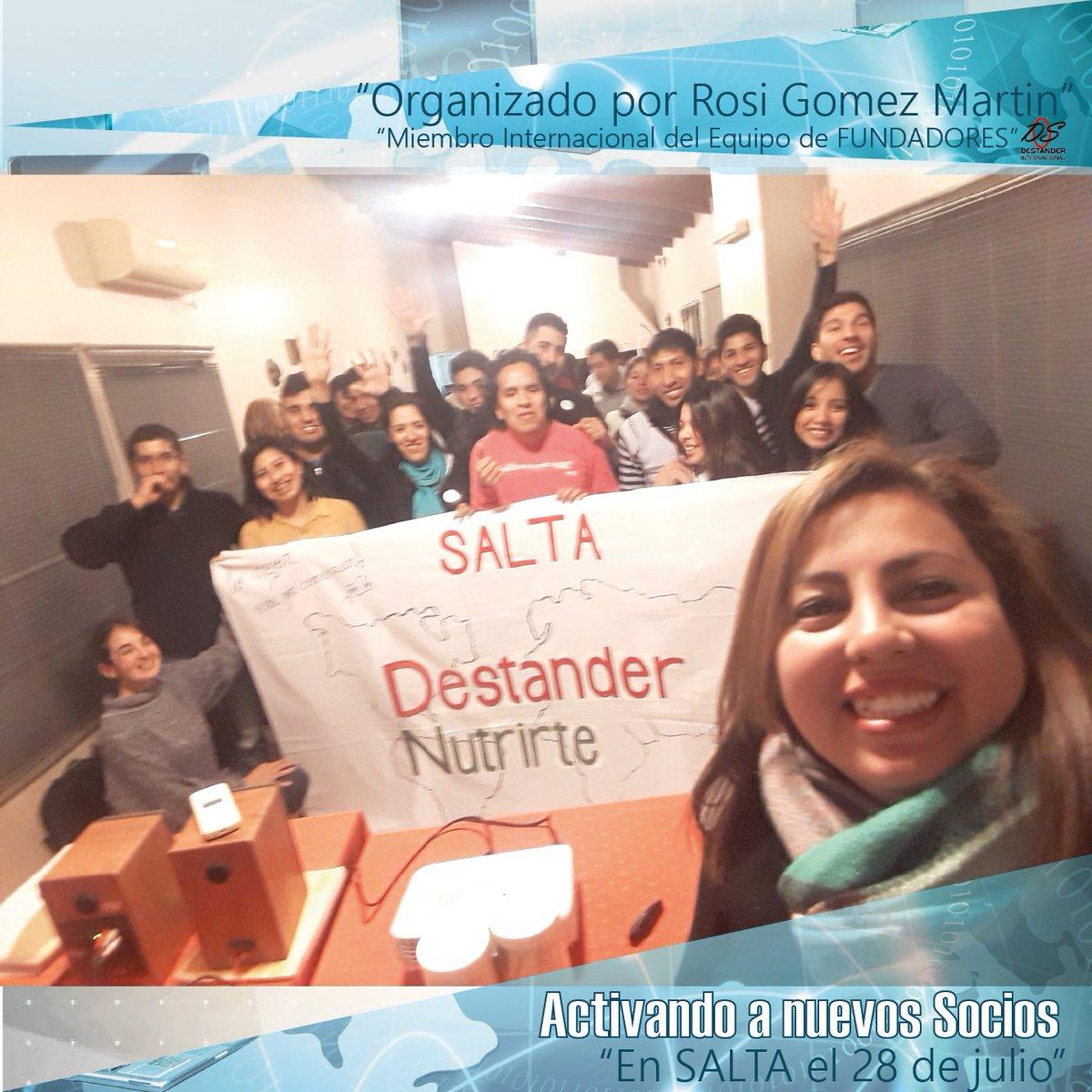 Activando Nuevos Socios  👏👨💼  En Salta el 28 de julio 2018.  Organizado por Rosi Gomez Martin  Miembro Internacional del Equipo de Fundadores DS Internacional https://t.co/ZQsXi6qDuQ