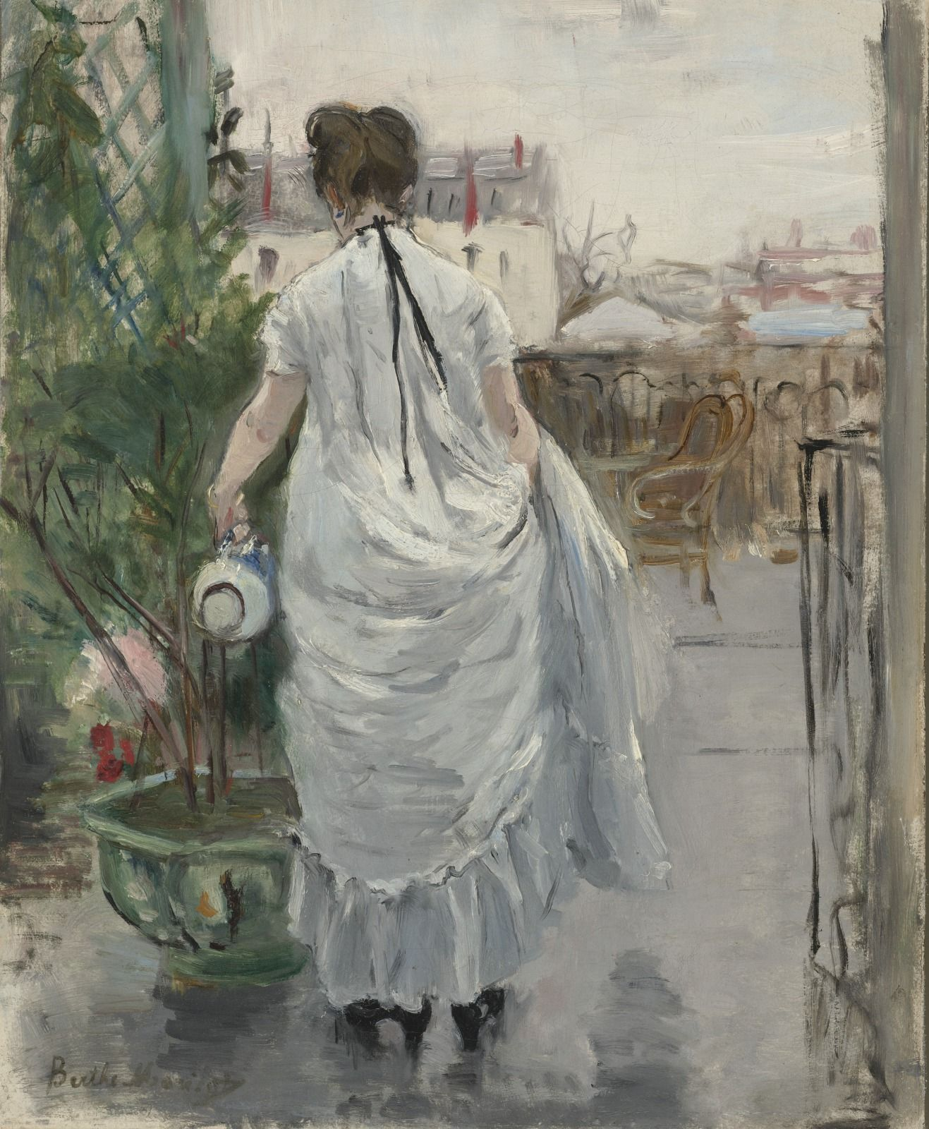 """VMFA ar Twitter: """"Berthe Marisot, French painter and a """"grandes dame"""" of  Impressionism alongside Marie Bracquemond & Mary Cassatt. Marisot worked  tirelessly to prove equal to her male counterparts and focused her art  around the female experience ..."""