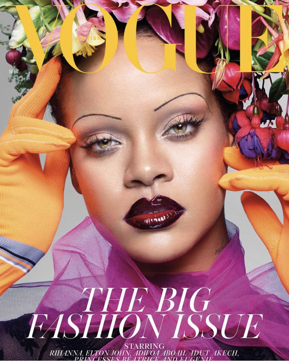A Fan Recreated Rihanna's British Vogue Cover, Flowers and All