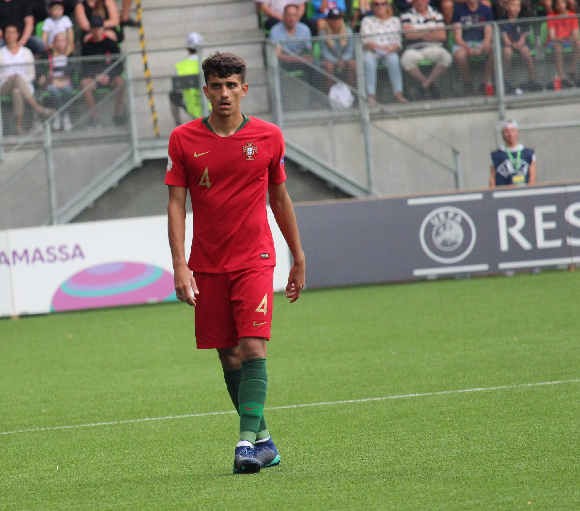 Romain Correia durant l'Euro U19