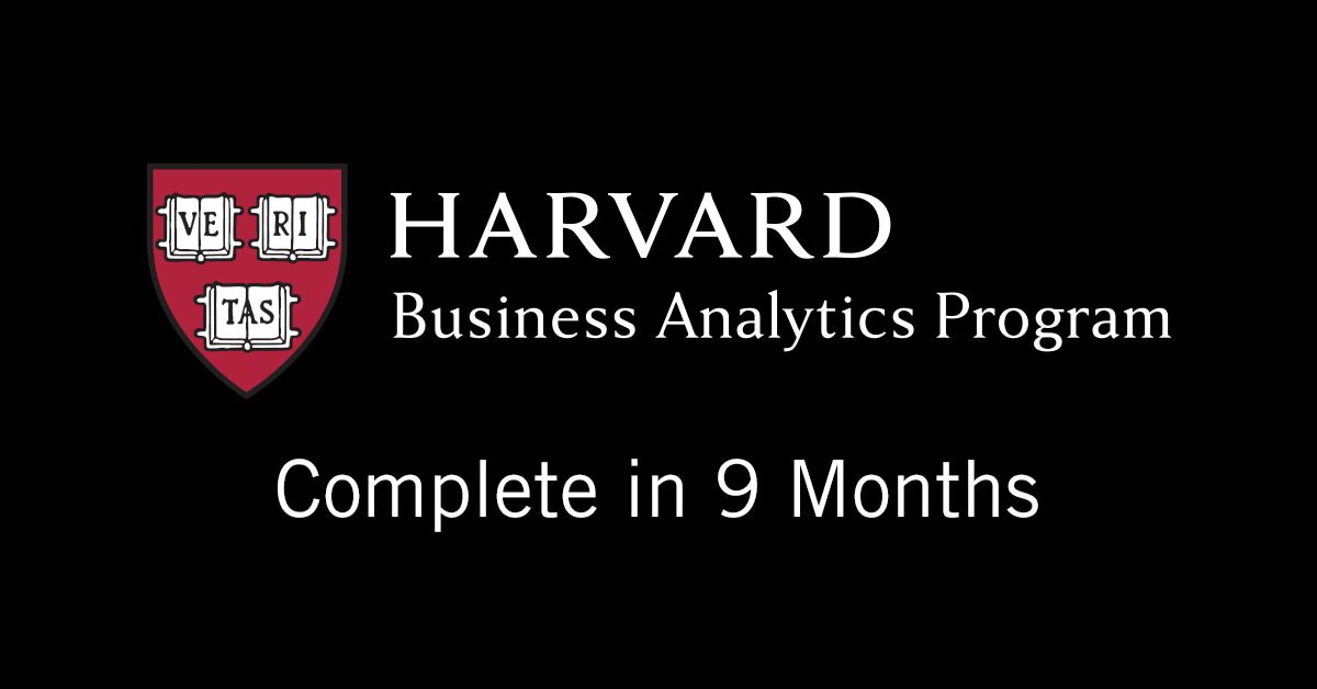 Harvard Business Analytics Program On Twitter Study Under