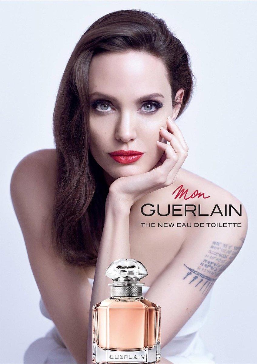 "John Sant on Twitter: ""📷 Angelina Jolie in the new Mon Guerlain 'Notes of  a Woman' 2018 perfume campaign. In stores September 2018. [via  @AJolieSource] #MonGuerlain #Guerlain #AngelinaJolie…  https://t.co/27Rvfs9Bdr"""