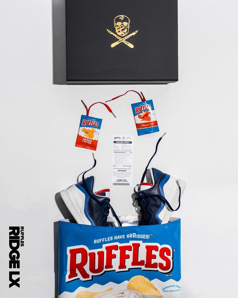 Ruffles sneaker stash