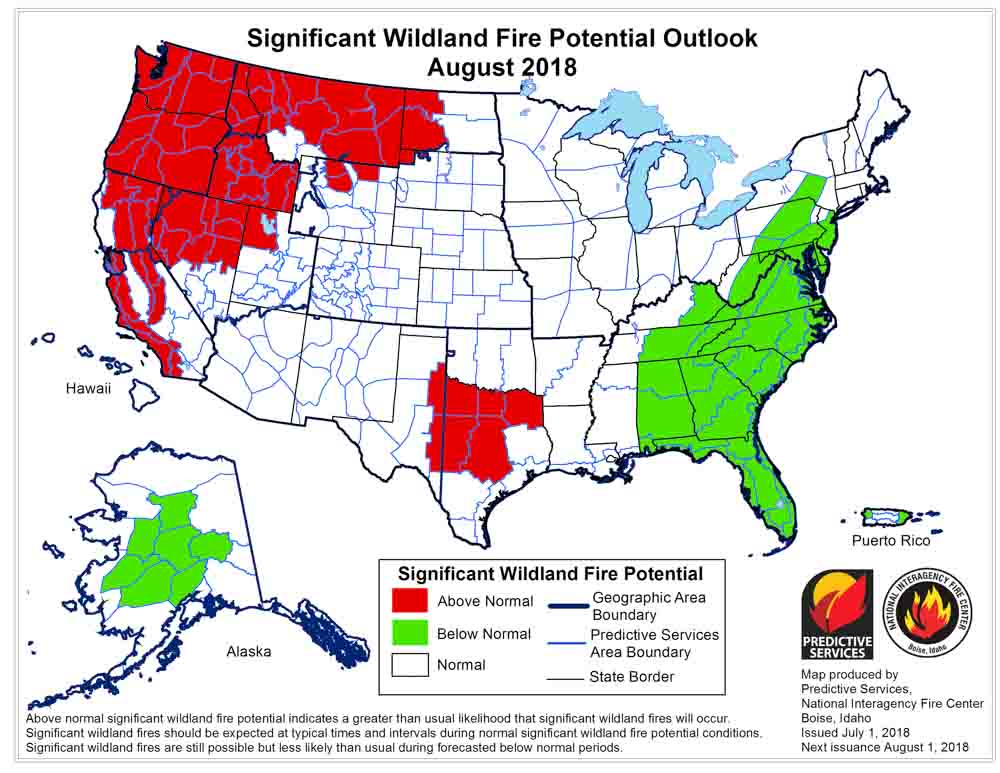 Wildfire Today On Twitter Nifc S Wildfire Potential Analysis
