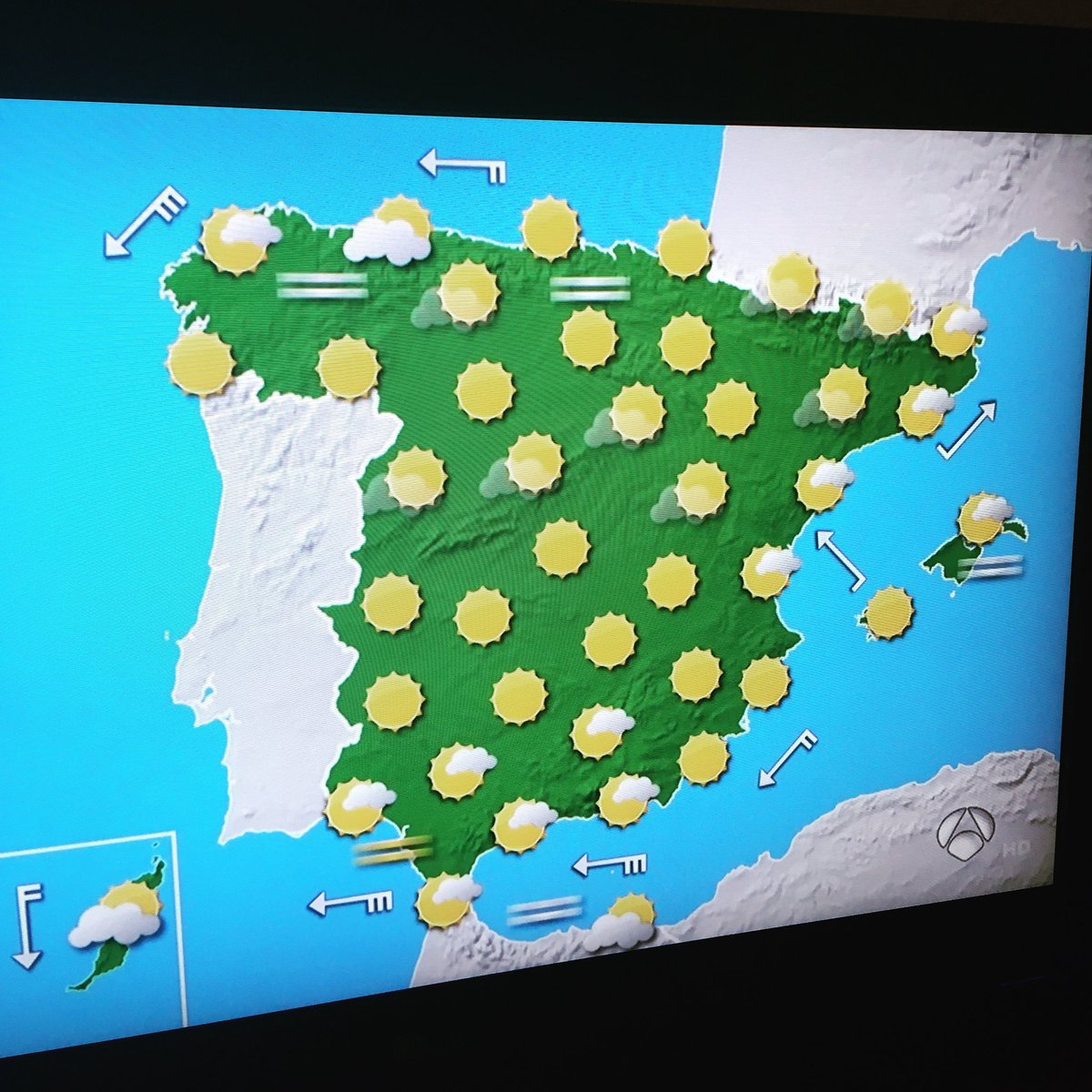 Weather Map Of Spain.Grub On Twitter The Weather Forecast In Spain Is Currently Quite