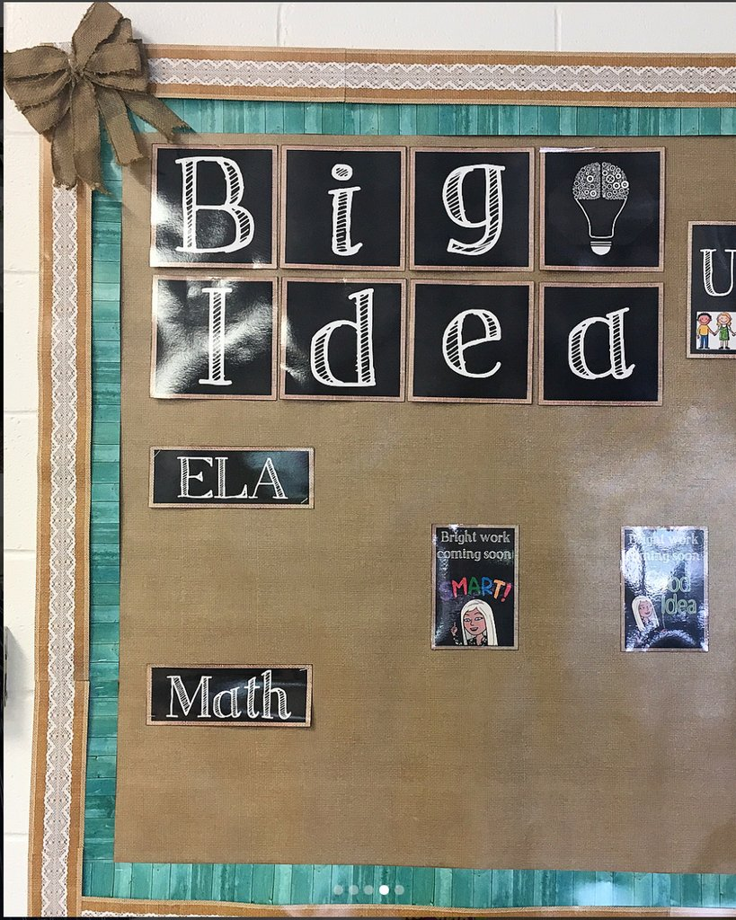 Teacher Created On Twitter We Love When A Theme Comes Together Simplysixthgrade Accented Our Burlap Better Than Paper With Some Of Our Shabby Chic Borders To Create An Adorable Bulletin Board For