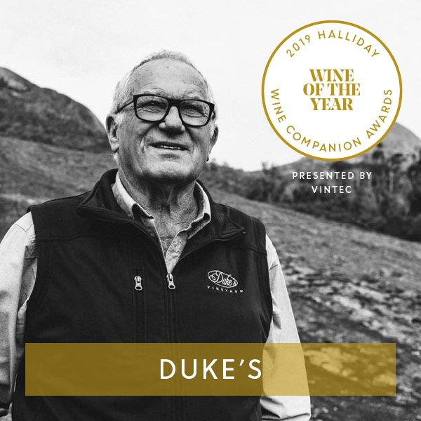 Duke's Vineyard Magpie Hill Reserve Riesling 2017 is named Wine of the Year at the 2019 Halliday Wine Companion Awards, presented by Vintec @VintecClub #hallidaywinecompanionawards2019 #jameshalliday #hallidaywinecompanion2019  #winecompanion #wineawards #topaustralianwines