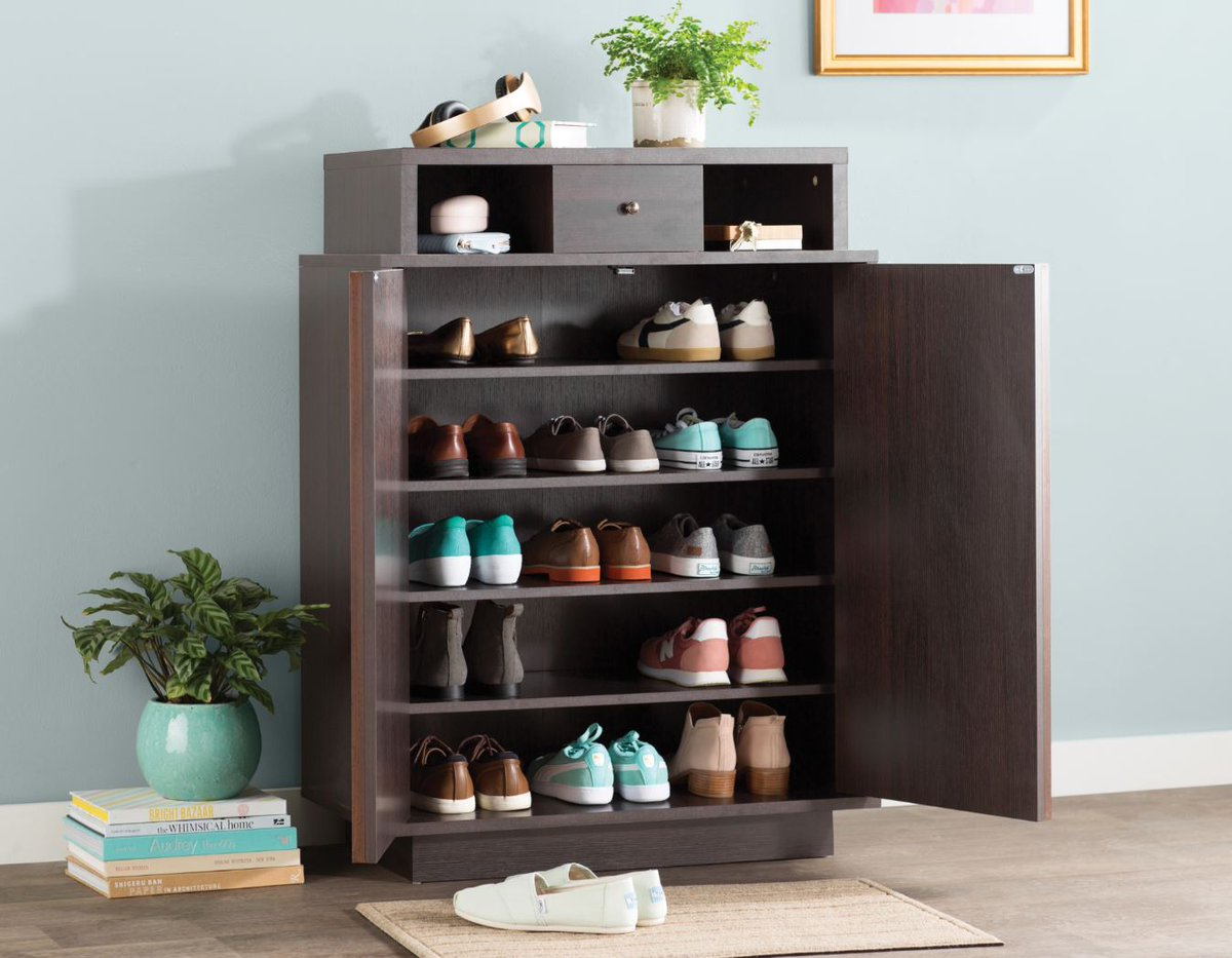 c2923e89b5e3 Not anymore with cabinets that hide your shoe addiction in plain sight. Tag  a friend who has enough shoes to fill this cabinet (or more)! ...