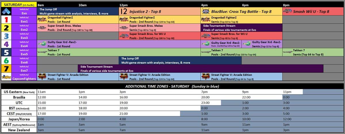 Acekingoffsuit On Twitter Please Rt Stream Schedule For Evo2018