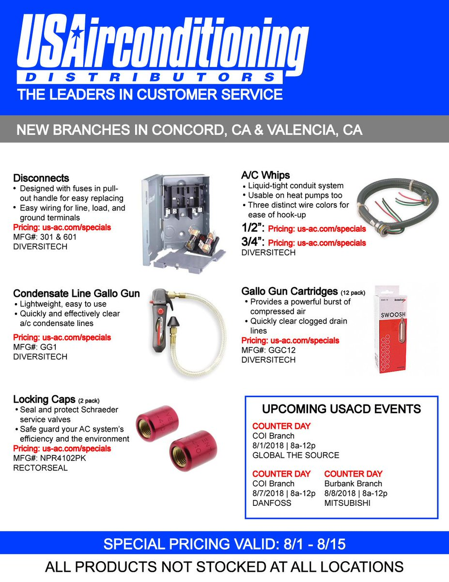 Us A C Distributors On Twitter Spend Less Time In Line And More Ac Wiring Colors The Job By Stocking Up These Sale Items