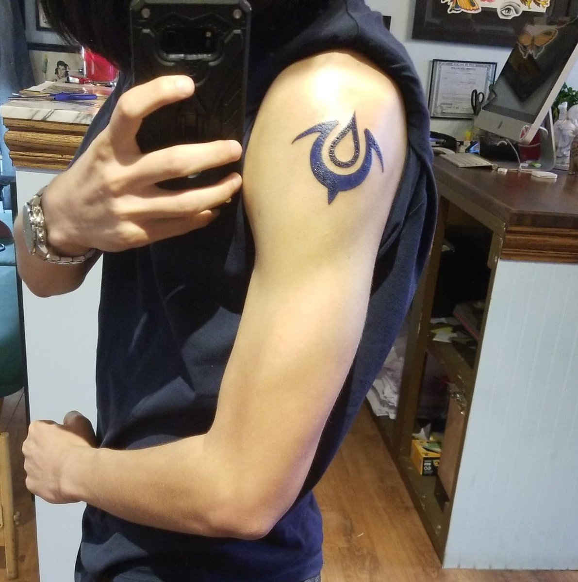 #Geek 🤓 Awesome of the Day: #FireEmblem #Videogame 🎮 Arm #Tattoo via @BoomToast2 #SamaTattoo #SamaGeek #SamaGames 🕹️