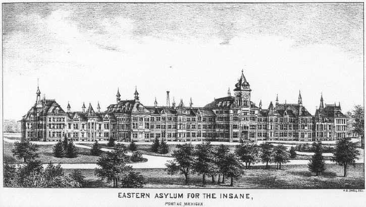 1878 : Eastern Michigan Asylum Opens in Pontiac