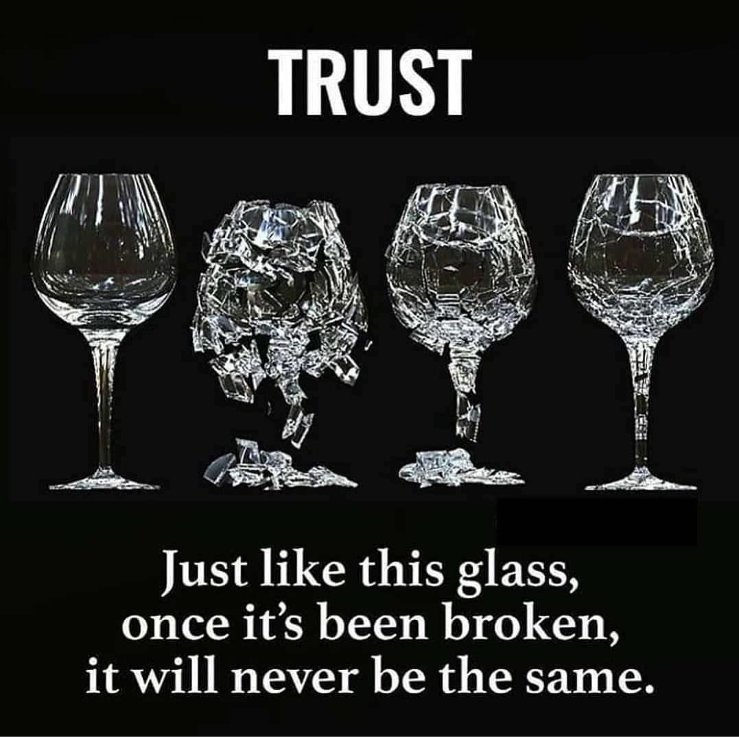 Inspirational Quotes On Twitter Trust Just Like This Glass Once
