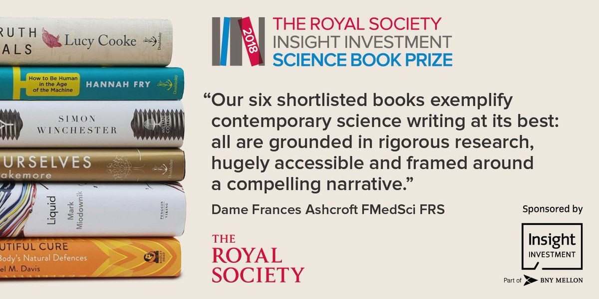 The Royal Society On Twitter Announcing Our 2018 Scibooks Prize