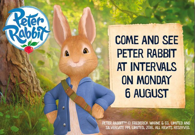 On Monday 6th August come and meet Peter Rabbit™ at intervals during the day! Rides, face-painting, attractions, inflatables and more! https://t.co/O4SngYhdR3 @peterrabbitnews #peterrabbit #peterrabbitmovie https://t.co/E6SeDMYdDl