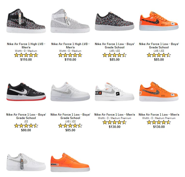ccccfe1777b8ca ... Nike Air Force 1  Just Do It  Finish Line http   bit.ly 2n3tA9V  Ruvilla http   bit.ly 2n2eEsm DTLR http   tidd.ly a7151555 Shoe ...