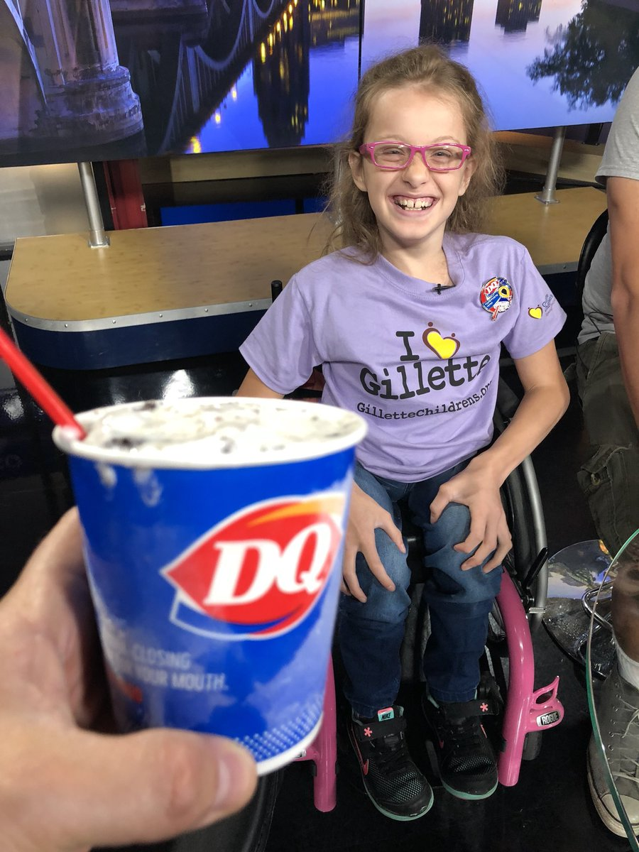 It's #MiracleTreatDay at @DairyQueen. Buy a blizzard and help @GilletteChildrn patients like the adorable Maddy!! https://t.co/nj1xUyEb1o