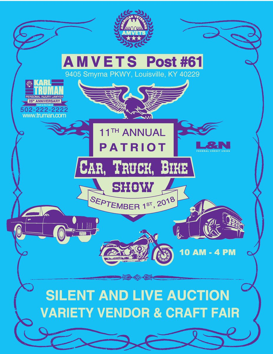 AMVETS CAR SHOW AmvetsCar Twitter - Car show louisville ky