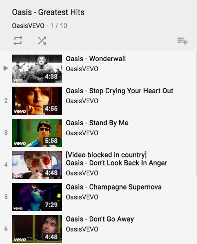 Oasis - Greatest Hits is a video playlist over on Oasis VEVO channel. It includes all the classic tracks from Wonderwall to Supersonic. Get watching: ow.ly/EOg030leuFv