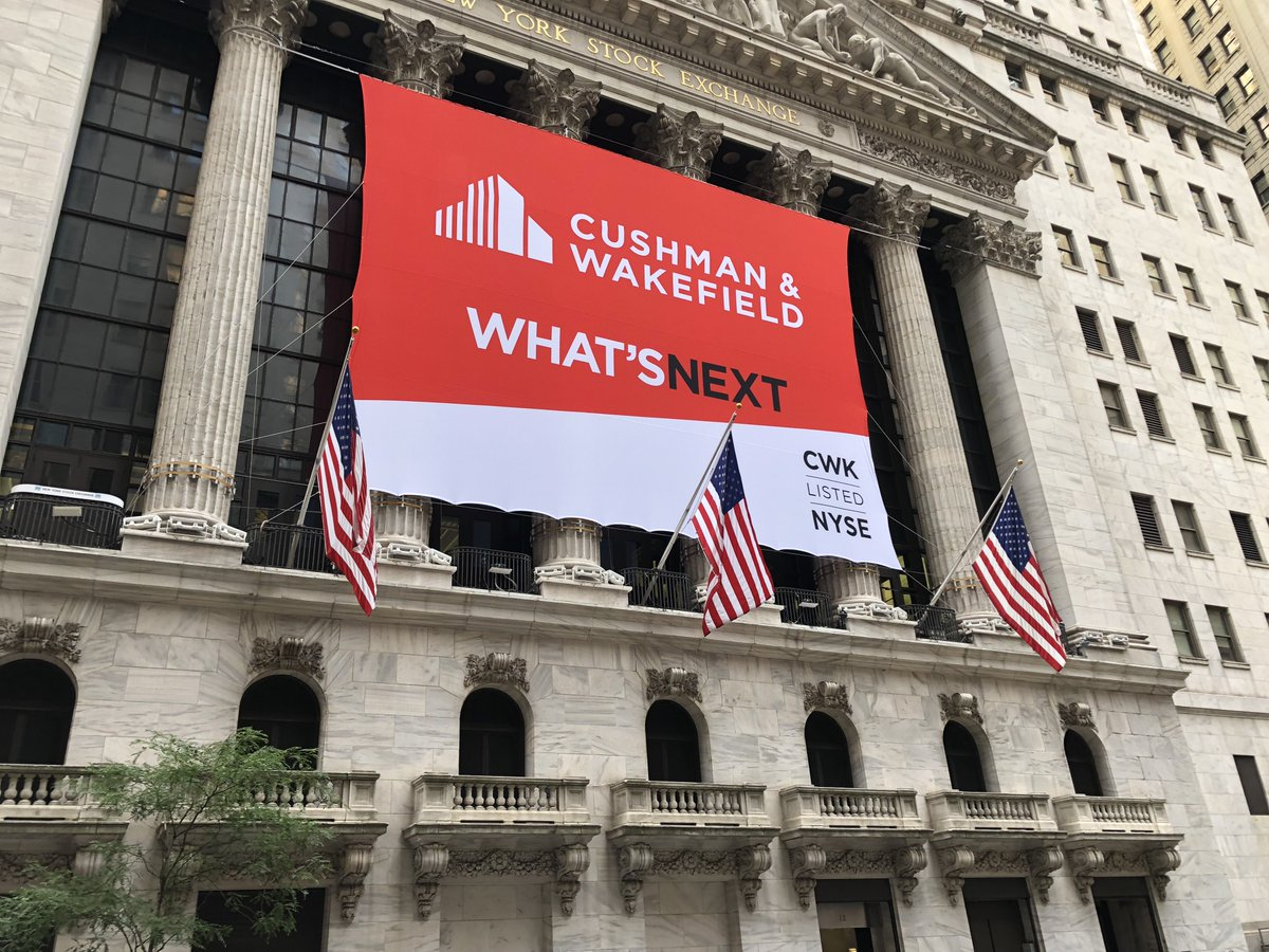 b5774a7f ... years ago, Cushman & Wakefield debuts at one of the most iconic pieces  of real estate in the world. Follow @NYSE to watch us ring the Opening ...