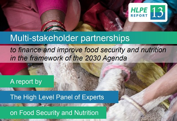 Multi-stakeholder partnerships to finance and improve food security and nutrition