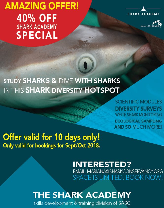 Wowzers! Check out the limited time offer on our #SharkAcademy program! #Sharks #sharkscience #marinebiology #SharksNearMe<br>http://pic.twitter.com/veHliQgTcy