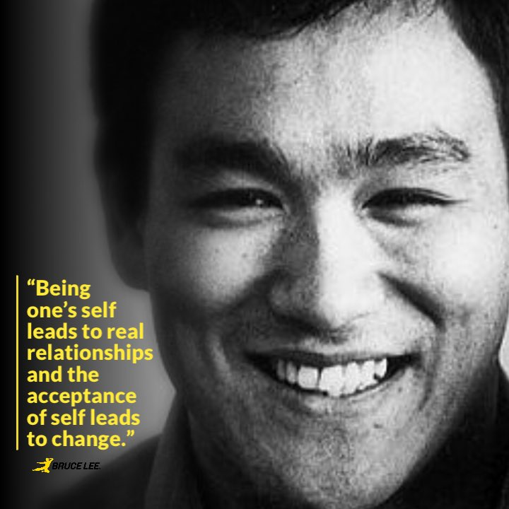 """Bruce Lee on Twitter: """"""""Being one's self leads to real ..."""