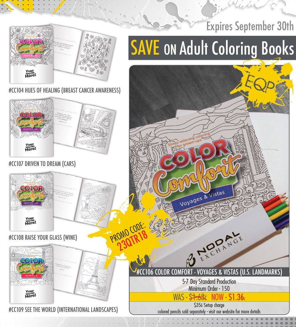 Did You Know Its National Coloring Day We Have A Few Of Our Very Popular Color Comfort Books On Sale Through The End September Use Promo Code 23QTR18
