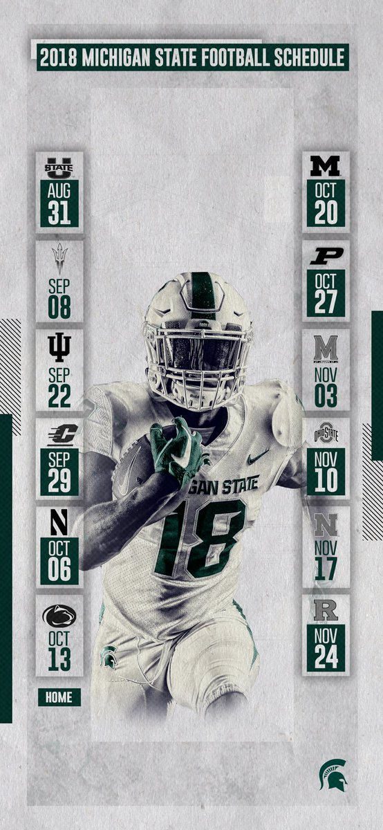 Michigan State Football On Twitter 2018 Football Schedule Lock Screen Wallpapers For The Iphone X And Galaxy S9 Who Said Wallpapers Are Only For Wednesdays Gogreen Https T Co Hss41k0eqj