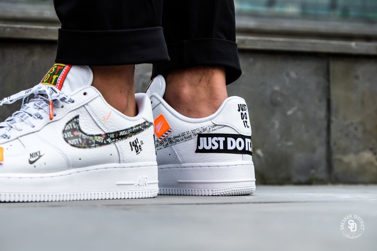 air force 1 just do it white footlocker