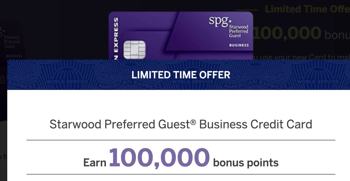 boardingarea on twitter amex spg business card launches 100k point welcome offer a few other changes httpstco7ujac9fn2f via milestomemories - Spg Business Card