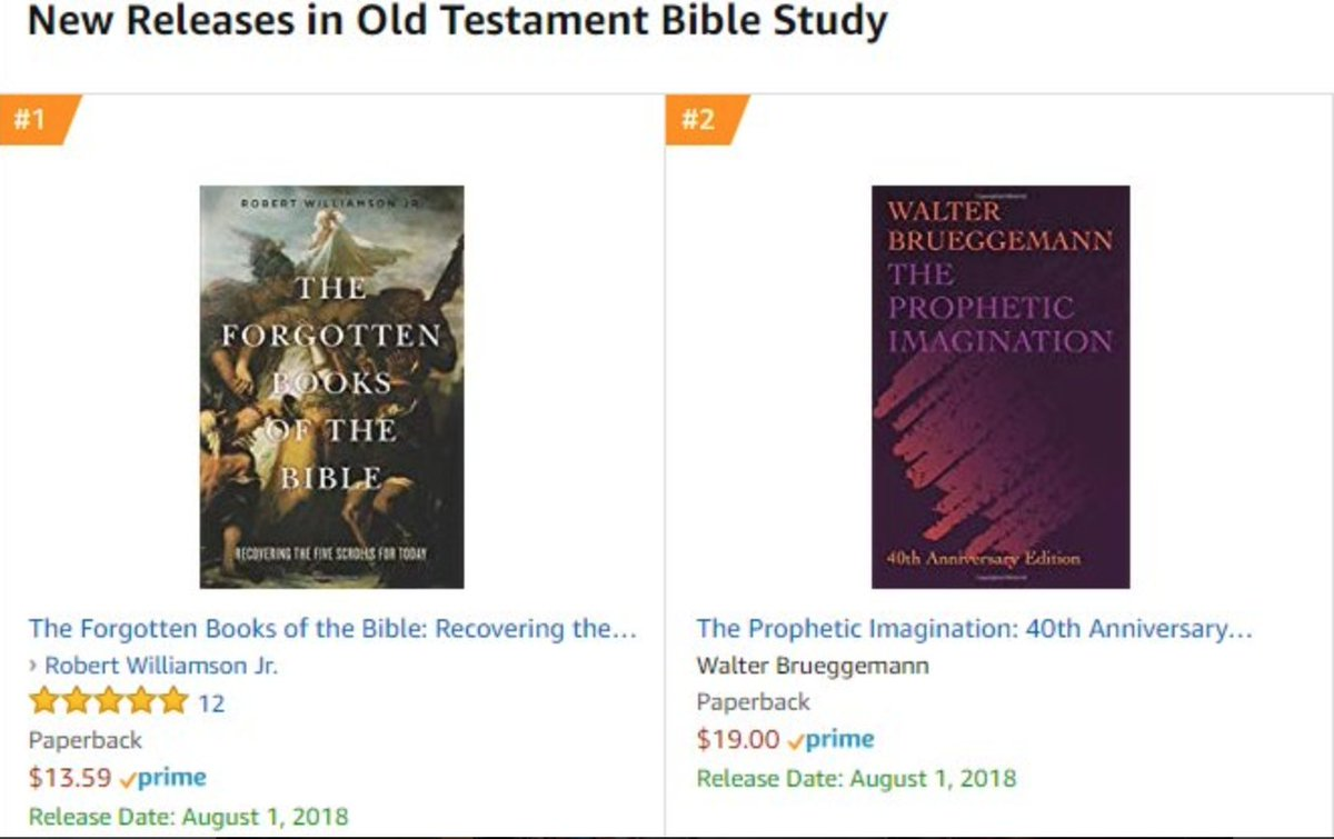 """Fortress Press on Twitter: """"It's a good day in Old Testament Bible Study 😉  Check out these two NEW books on Amazon!… """""""