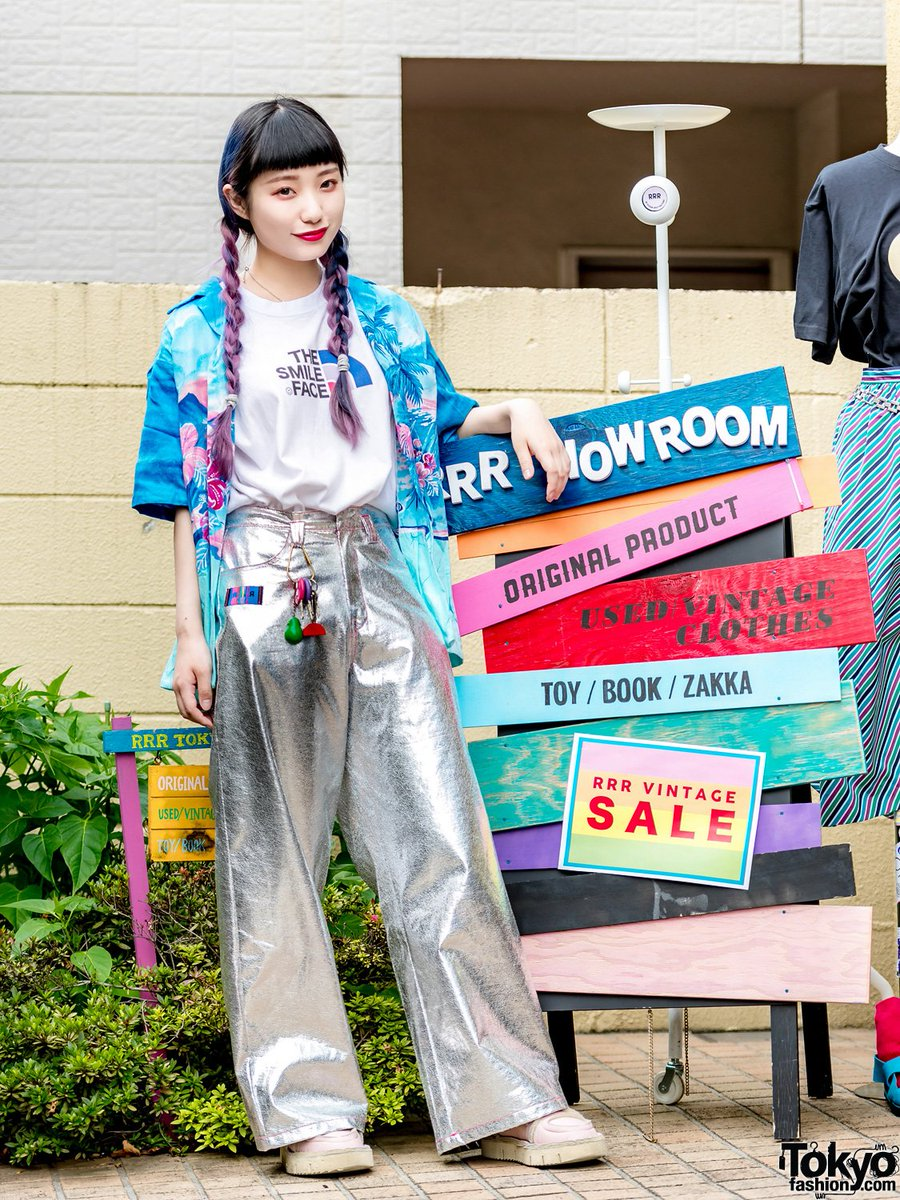 Tokyo Fashion On Twitter Young Japanese Fashion Designer Aiba Runa R R R Founder Of The Popular Harajuku Brand And Vintage Boutique Rrr On The Street In Harajuku Wearing Cute Fashion