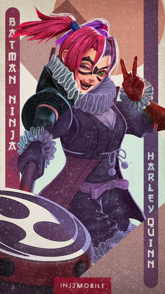 Injustice 2 Mobile Ar Twitter Add A Little Crazy To Your Phone With The New Batmanninja Harley Quinn Wallpaper