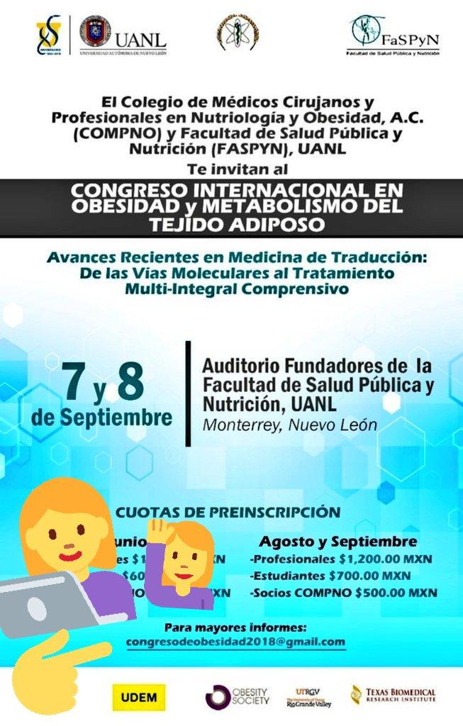 e1fe2988ee57  CongresoInternacional en  obesidad y  metabolismo del tejido adiposo. Cupo  limitado.  Salud  Nutrición  Ciencia  Monterrey  México ...