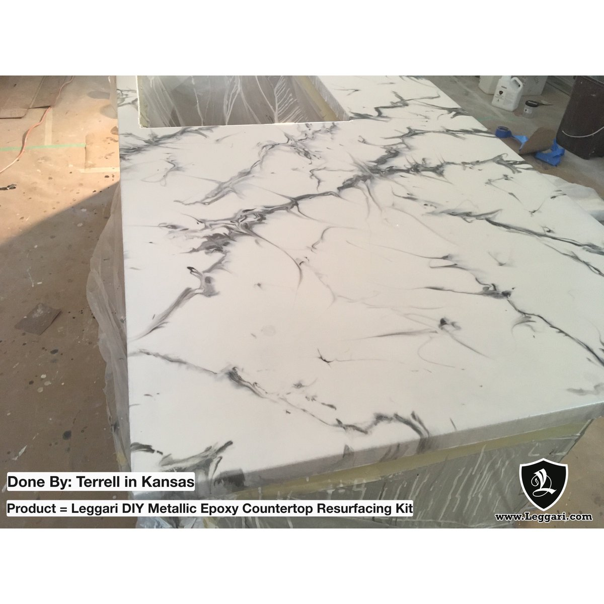 Leggari Products On Twitter Loving Terrell S Epoxy Countertop Creation It Replicates White Marble With Veins Will Be A Hit For Years To Come Nice Work Terrell Customerinstall Epoxycountertop Epoxy Epoxycoating Marble