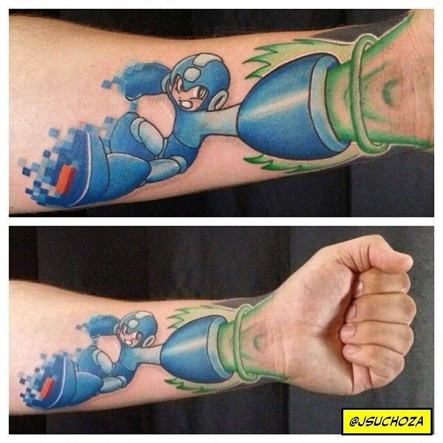 #Geek 🤓 Awesome of the Day: #Capcom #MegaMan Character Forearm #Tattoo via @RetroGameLovers #SamaTattoo #SamaGeek 🎮