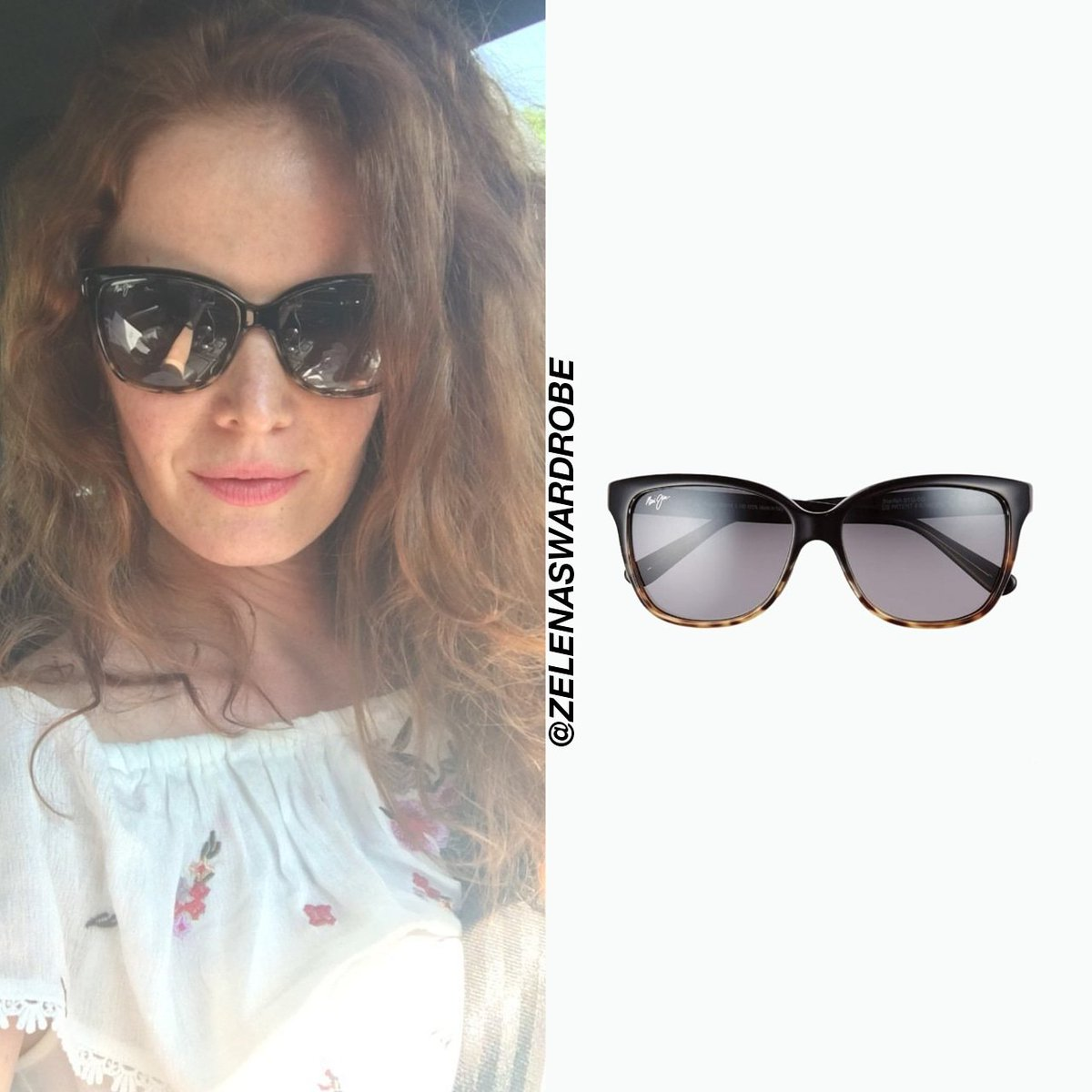 2d7d15458f01 ... wearing Maui Jim Starfish Polarized Fashion Sunglasses in  Black/Tortoise. They are currently sold out on http://www.overstock.com but  were originally ...