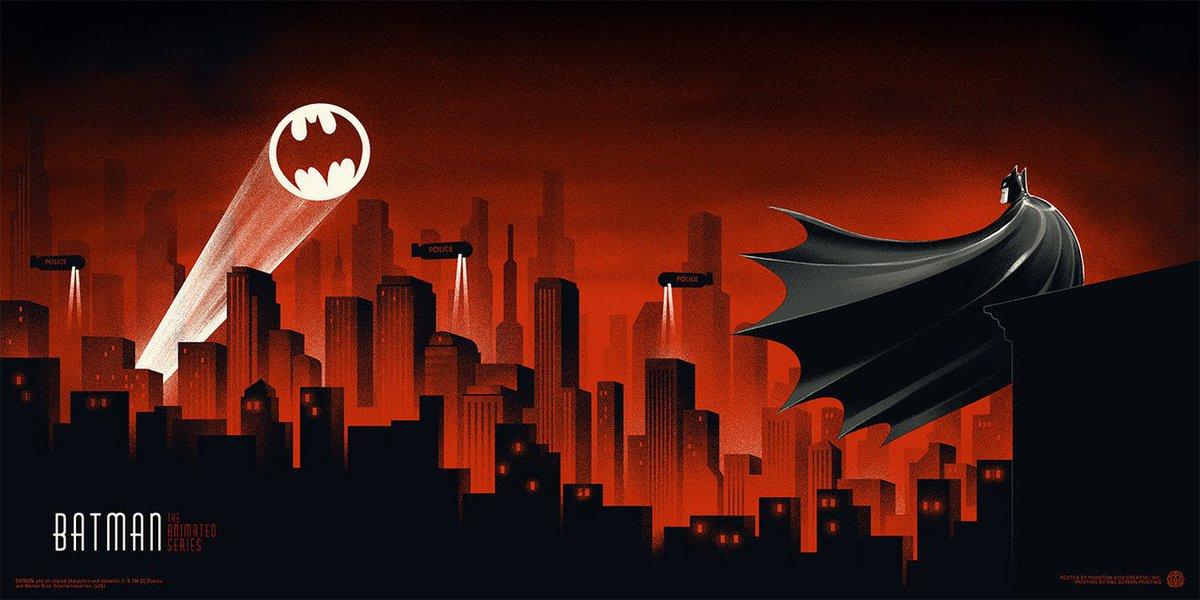 Poster for Batman: the animated series by @PhantomCityCrtv